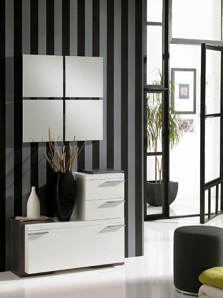 Recibidor con espejo y mueble zapatero - Recibidor con zapatero ...