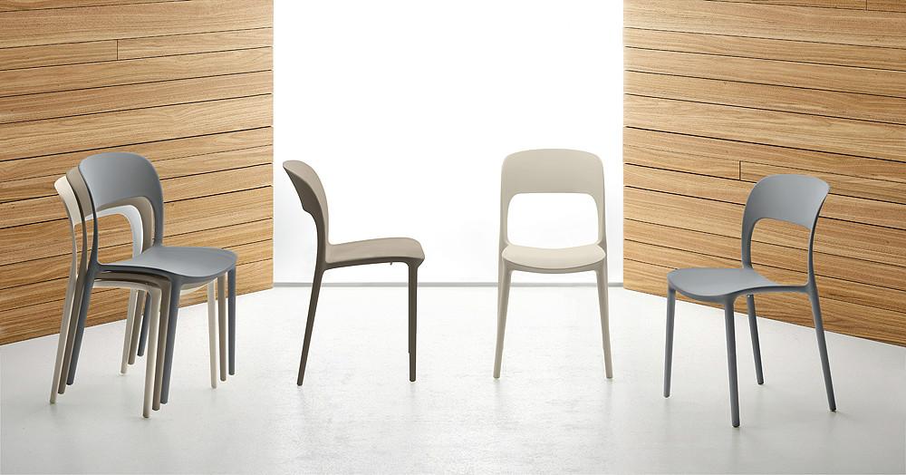Sillas apilables de estilo moderno de colores for Sillas estilo moderno