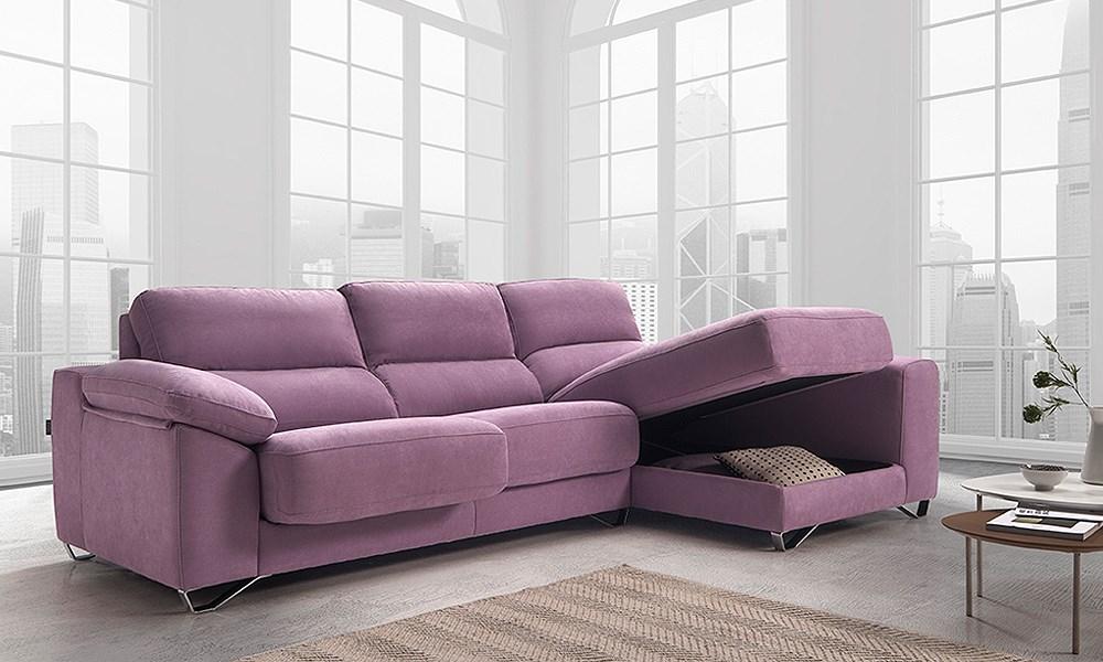 Sof de tres plazas con chaiselongue - Sofa de tres plazas ...
