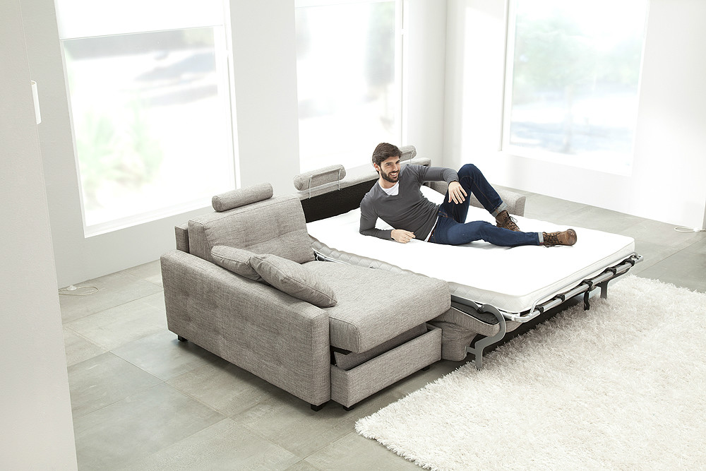 Sof cama con chaiselongue con arc n for Sofa cama con arcon
